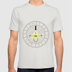 Bill Cipher summoning Mens Fitted Tee Silver SMALL