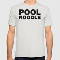 POOL NOODLE Mens Fitted Tee Silver SMALL