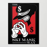 The Ski Mask Way Canvas Print