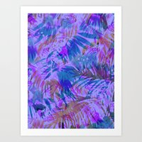 Palmtastic Purple Art Print