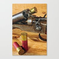 Double Barrel  Canvas Print