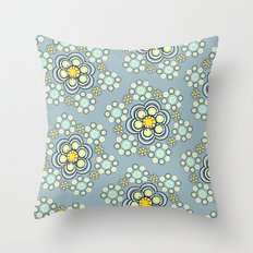 Bunches of Yellow flowers Throw Pillow