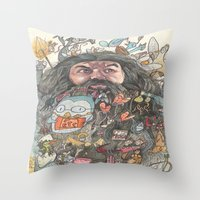 Hagrid's Beard Throw Pillow