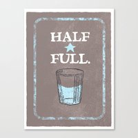 Half Full Canvas Print