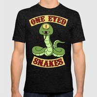 One Eyed Snakes Mens Fitted Tee Tri-Black SMALL