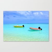 French polynesia seascape turquoise sea Canvas Print