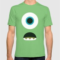 Mike Wazowski Mens Fitted Tee Grass SMALL
