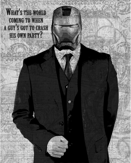 Unreal Party Iron Man Canvas Print