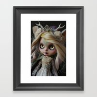 ANCIENT FOREST DEER SPIR… Framed Art Print
