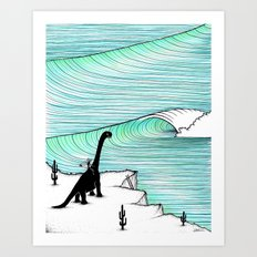 Surf Check Art Print