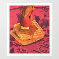 WAFFLE Art Print