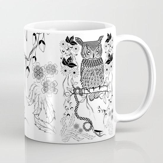 Jungle Owl and Snake Mug