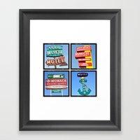 Vintage Signs Composite … Framed Art Print
