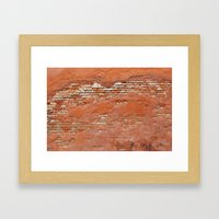 Orange Brick Wall Framed Art Print