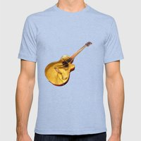 The guitar is a lady Mens Fitted Tee Tri-Blue SMALL