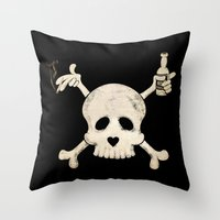 Cigarettes & Alcohol  Throw Pillow