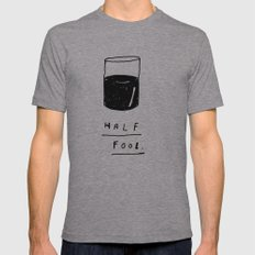 HALF FOOL Mens Fitted Tee Athletic Grey SMALL