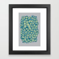 The Many Faces Of Framed Art Print