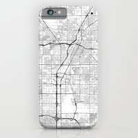 iPhone Cases featuring Las Vegas D by City Map Art