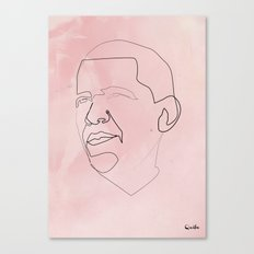 One line Obama Canvas Print
