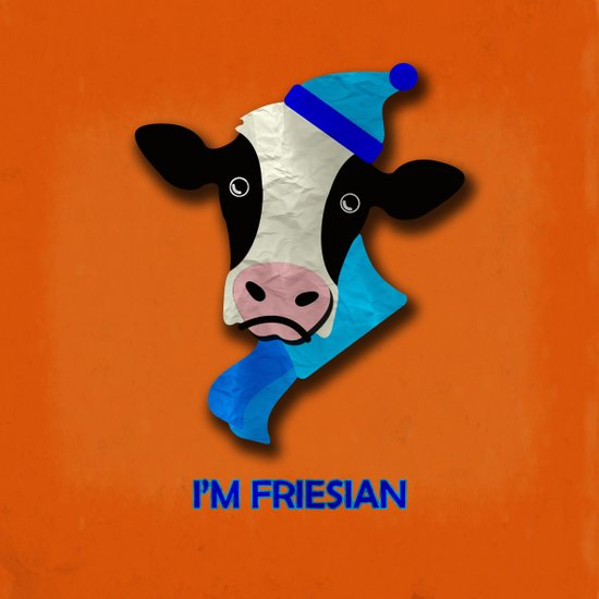 I'm Friesian Art Print