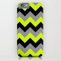 Chevron Silver Lime iPhone 6 Slim Case