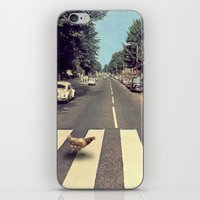 Why did the chicken cross THE road? iPhone & iPod Skin