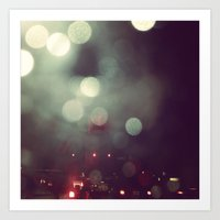 Bokeh @ Night Art Print