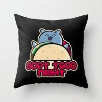 Soft Taco Night Throw Pillow