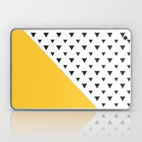 Yellow And Triangles  Laptop & iPad Skin