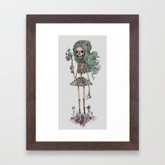 Grim Girlfriend Framed Art Print