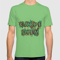 Carpe Diem Mens Fitted Tee Grass SMALL