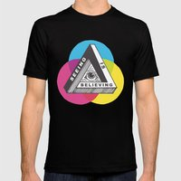 Seeing Is Believing Mens Fitted Tee Black SMALL