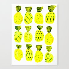 Modern Pineapples Painting Canvas Print