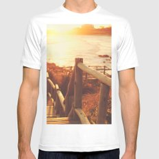 Sunset I Mens Fitted Tee White SMALL