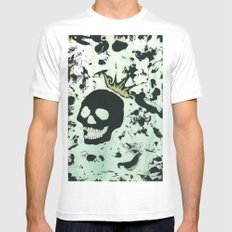 Last Laughing Skull White SMALL Mens Fitted Tee