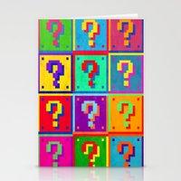 Mario Blocks Stationery Cards