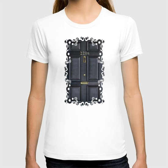 Classic Old sherlock holmes 221b door iPhone 4 4s 5 5c, ipod, ipad, tshirt, mugs and pillow case T-shirt