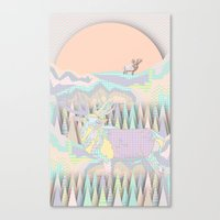 Deer Forest Canvas Print