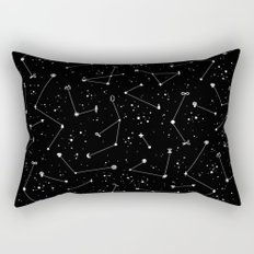 Constellations (Black) Rectangular Pillow