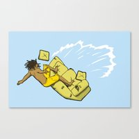 Couch Surfer Canvas Print
