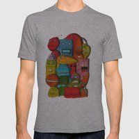Robots Of Cornwall Mens Fitted Tee Athletic Grey SMALL