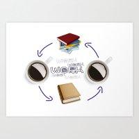 Coffee And Books - Recipe For Success Guaranteed  Art Print
