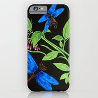 iPhone & iPod Case featuring Blue dragonflies by maggs326