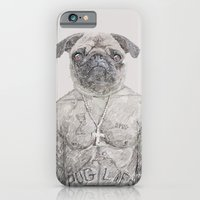iPhone & iPod Case featuring 2 pug by JosephMills
