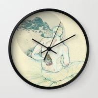 Boy and bird. Wall Clock