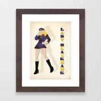 Lady Blackhawk Framed Art Print