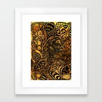 Autumnal Tangles Framed Art Print