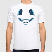 Happy Happy Mens Fitted Tee Ash Grey SMALL