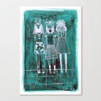 Masked Girls. Canvas Print